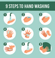 hands wash infographic healthcare personal vector image vector image
