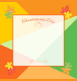 happy thanksgiving day celebration background vector image vector image