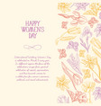 happy womens day postcard vector image vector image