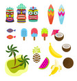 hawaii tropic colorful clipart vector image vector image
