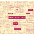 HEADHUNTING vector image vector image