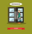 hotel guest in flat style vector image vector image