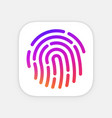 id app icon template fingerprint mobile vector image