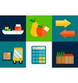 import export fruits vector image