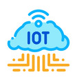 internet things icon outline vector image