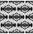 intricate abstract black and white floral vector image vector image