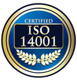 ISO 14001 vector image vector image