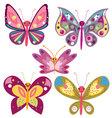 kawaii butterflies vector image vector image
