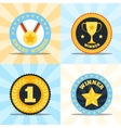 Label flat winner set vector image vector image