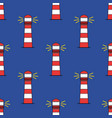lighthouse seamless pattern isolated on blue vector image