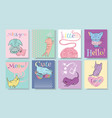 little kitten banners vector image vector image