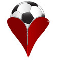 love soccer vector image vector image