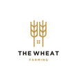 Luxury grain wheat farm logo design