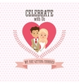 Married design Wedding icon Colorful vector image vector image