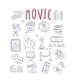 Movie Produstion And Industry Objects Collection vector image vector image