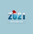 new year greeting card pf 2021 winter vector image