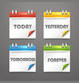 Paper diary icons with bended color corners vector | Price: 1 Credit (USD $1)