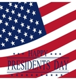Presidents Day Greeting card with symbols vector image vector image