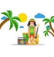 rastafarian cartoon character on jamaica rastaman vector image vector image