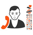 receptionist icon with valentine bonus vector image vector image