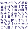 repair tools icons on white vector image vector image