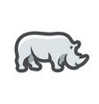 rhino silhouette simple icon cartoon vector image vector image