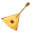 russian balalaika isolated on a white background vector image vector image