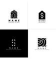s logo letter monogram design template vector image