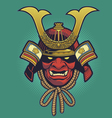 samurai helmet vector image