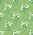 Seamless Pattern with Chamomile Bouquet vector image
