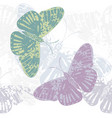 seamless pattern with cute butterflies vector image vector image