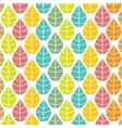 Seamless pattern with multicolored leaves vector image vector image