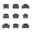 Set of black armchairs