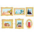 set of pictures from different countries china vector image vector image