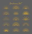 set vintage gold bursting rays flat icon vector image vector image