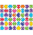 shiny puzzle separate parts vector image vector image