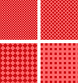 Simple red pattern set vector image vector image