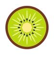 Sliced kiwi flat icon