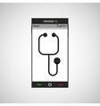 smartphone healthcare doctor app vector image vector image