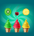 soft ice cream vector image
