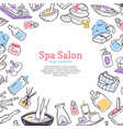 spa treatment salon poster background design for vector image