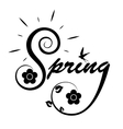 spring logo vector image vector image