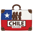 suitcase in colors chili flag vector image vector image