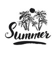 summer calligraphy lettering handwritten sign vector image vector image
