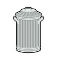 trash can isolated wheelie bin on white vector image vector image