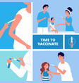 vaccination time to vaccinate innovation vaccine vector image