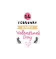 valentine day retro emblem lettering for love vector image
