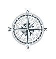 vintage wind rose symbol classic compass icon on vector image vector image
