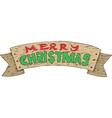 wooden christmas decor vector image vector image