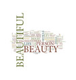 you are beautiful text background word cloud vector image vector image